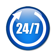 We have customer support available 24 7